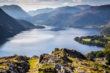 View of Ullswater from Gowbarrow Park – this photo is included in the Lake District's bid for World Heritage Status, 182 kb