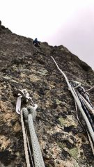 First bolted belay