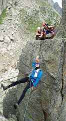 The tyrolean traverse pitch