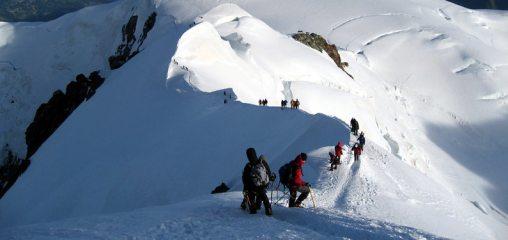 Bosses Ridge on Mont Blanc, 74 kb