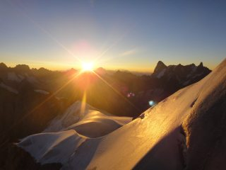 sunrise over the midi arete, yawn