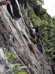 Working out the crux moves on Pitch 3