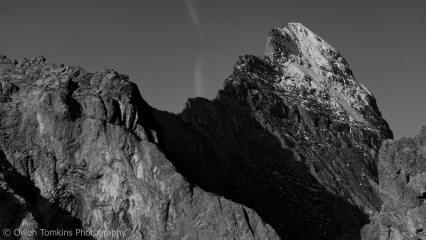 The Imposing Mittellegi Ridge on the Eiger