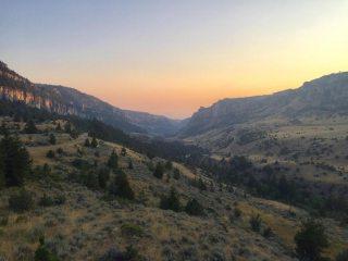 Tensleep Canyon at sunset