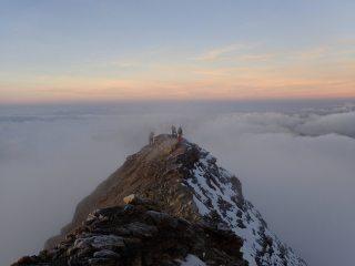 Last few meters to the summit