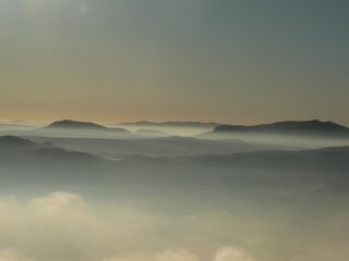 Morning mist from Moelwyn Bach, 65 kb