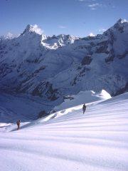 Kishtwar Himalaya 1976 - summit slopes of Taragiri (17,700 feet).