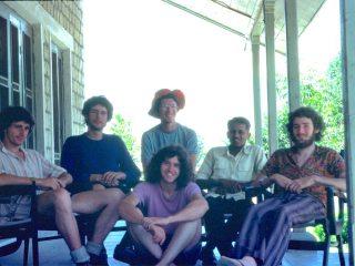 Team photo at the end of the road at Galhar, Kishtwar Himalaya. 50 miles to base camp. June 1976.