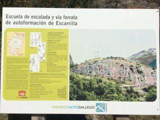 The noticeboard at Vuelta del Sombrero Sector A