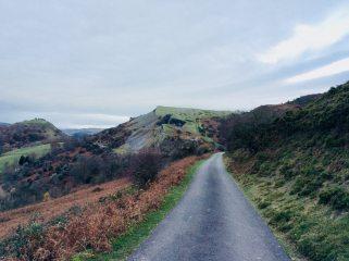 Castell Dinas and the Quarry.