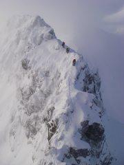 Aonach Eagach looking and feeling distinctly alpine!