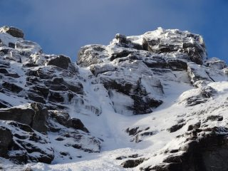 Farchal Gully III (Obvious Icey step and line above, in middle of pic)