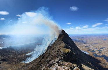 Suilven on Fire