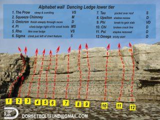 Dancing Ledge lower tier Alphabet wall