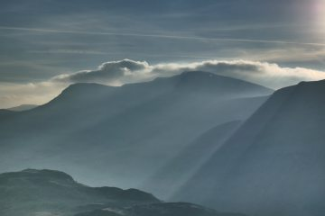 Early morning light on the cliffs of Cadair Idris