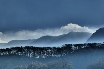 Cadair Idris in early morning winter light