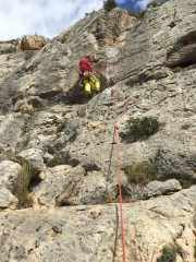 Benidorm Boogie 4c Andy Hedgecock on the 1st ascent