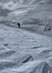 Climbing NW ridge of Sgurr a Mhaim in the Mamores, 134 kb