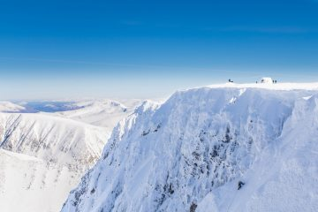 Unknown climber topping out on Ben Nevis 19-03-18