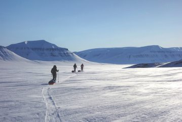 Stunning conditions in arctic Svalbard after a successful ascent of Newtontoppen