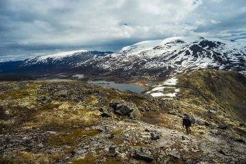 Hiking the Knutshoe in Jotunheimen National Park, Norway