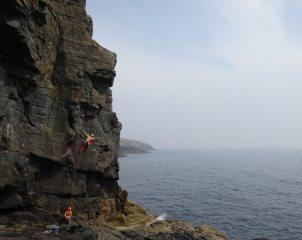 Alex McCann on Sea-Enema, Pabbay.