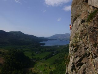 Pascal on Troutdale Pinnacle super direct. Photo credit to Spenser.