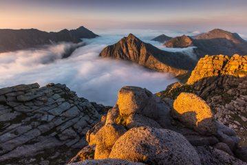 Caisteal Abhail summit sunrise