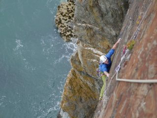 True Moments Traverse Pitch, Gogarth South Stack
