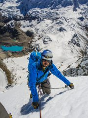 On the north face of Ranrapalca, Cordillera Blanca, Peru