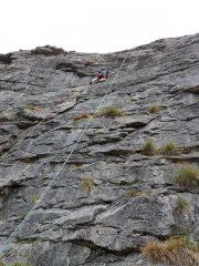 Steve Wilson on the delicate traverse of Olympus