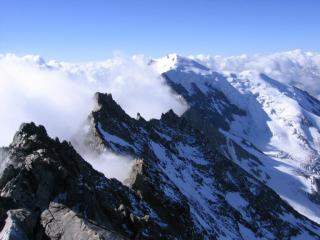 Looking across to the Wiesmies from the Lagginhorn