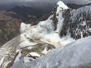 Summit ridge of Pik 5044 at top of FA of NE face.