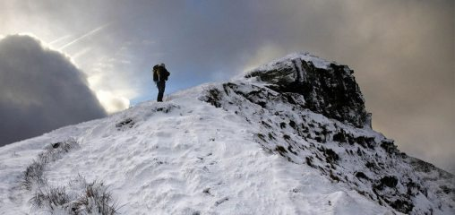 Approaching the top of Fan y Big, Brecon Beacons, 67 kb