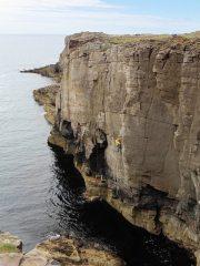 Gardyloo Gold E4 6a, Gardyloo Wall, Yesnaby, Orkney