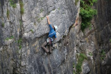 THE move on 'The Beast from the Undergrowth' (E2) at Huntsman's Leap