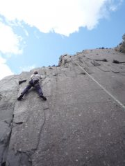 Rob contemplating the crux of Heart of Glass