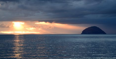 Ailsa Craig and Kintyre sunset