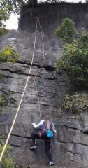 charlie seconding the first ascent of Betty's evil twin sister