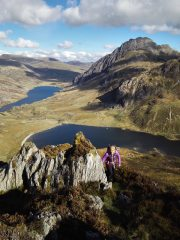 Views of Tryfan and the Ogwen valley from the East ridge of Y Garn