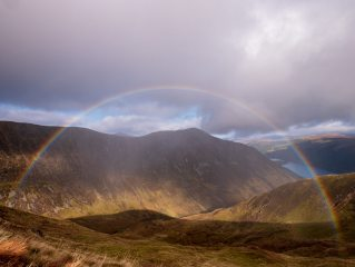 A rainbow caught from Meall Dubh (Loch Lochy)