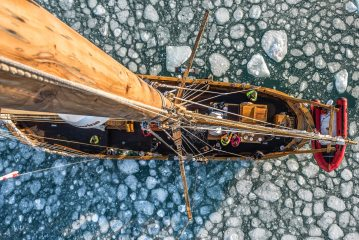 A climbers perspective sailing through arctic sea ice.