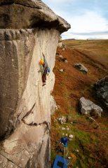 Iain Small leading Charlottes Dream, Back Bowden Doors, Northumberland.