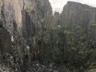 Wall Within area after recent large rockfall.
