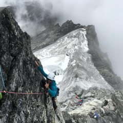 Yalung Ri- Main pitch to get onto top of upper rock band.