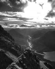 Back across An Teallach Ridge, 88 kb