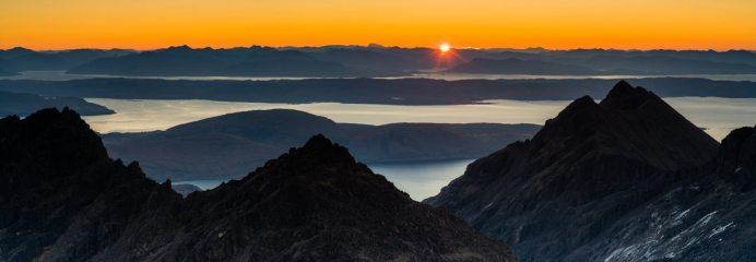 Sunrise from Sgurr Alasdair