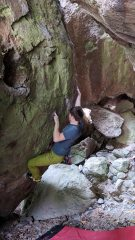Me doing Hulk in the cave at Arico