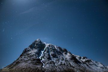Head-torch ascent of Great Gully II on Buachialle Etive Mòr