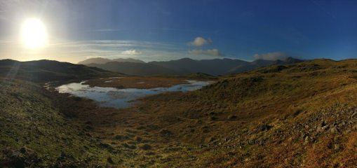 Looking towards the Langdales from around Silver How.